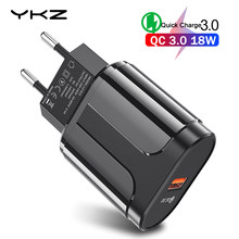 YKZ Quick Charge 3.0 Fast Mobile Phone Charger EU Plug Wall USB Charger Adapter for iPhone 6 7 8 X MAX QC3.0 for Samsung Xiaomi(China)