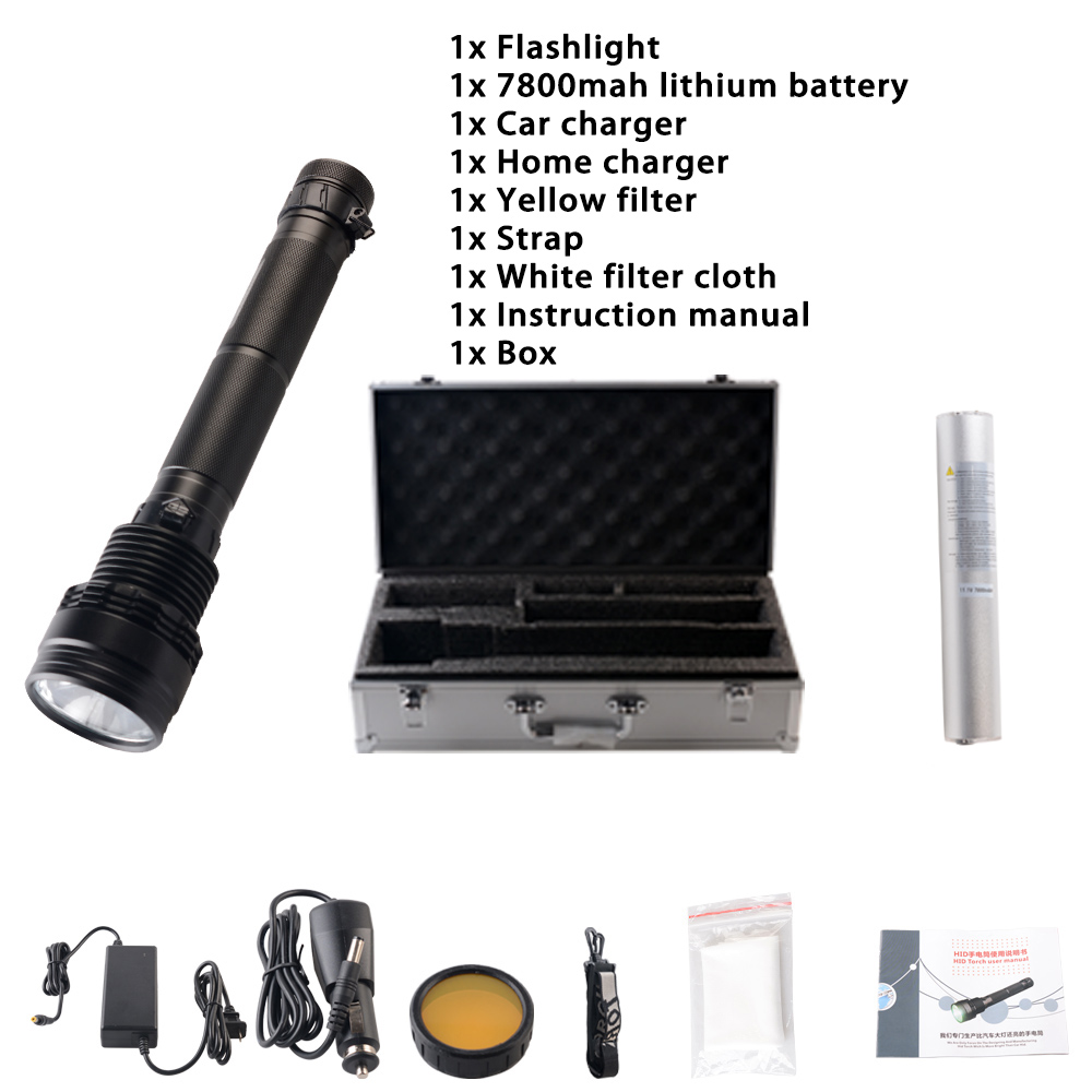 New Arrival Lithium Ion 300 For Hid 2-4 Files White Ccc Self Defense Jujingyang 95w/75w Xenon Flashlight Alloy
