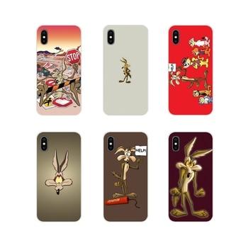 Divertido lindo de dibujos animados Looney Tunes Coyote de la cubierta del teléfono para Huawei G7 G8 P7 P8 P9 P10 P20 P30 Lite Mini Pro P Smart Plus 2017 de 2018 a 2019