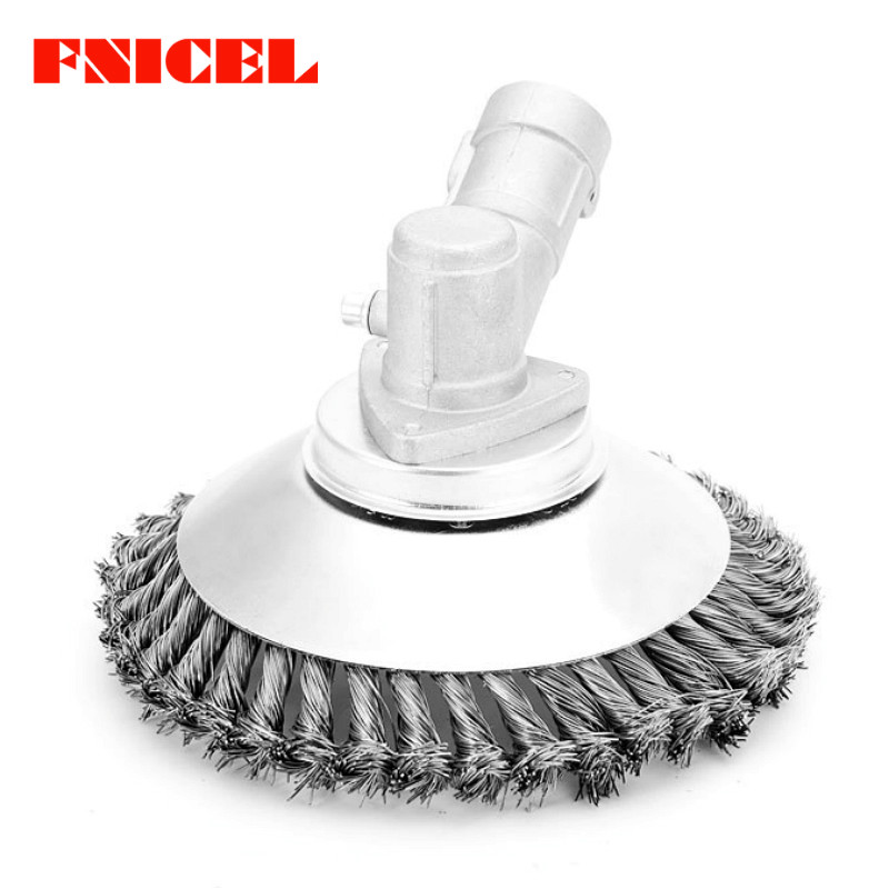 6 Inch Lawn Mower Grass Trimmer Head Steel Wire Trimming Head Rusting Brush Cutter Mower Wire Weeding Head For Lawn Mower