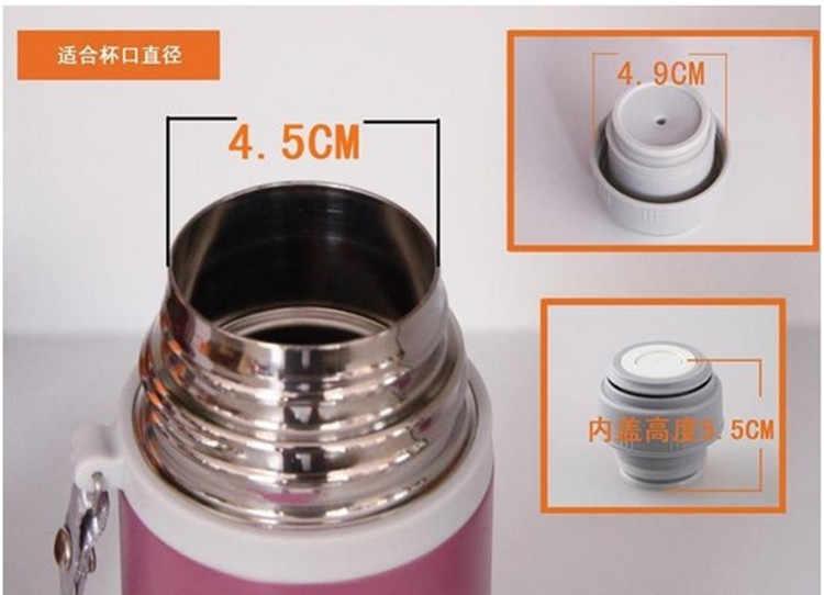 Zwart Thermos Cover Mok Outlet Bullet Kolf Cover Thermoskan Deksel Roestvrij Thermosflessen Accessoires Outdoor Reizen Cup