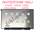 144 Гц контраст ratio1200:1 500cd FHD ЖК-дисплей NV156FHM-N4K NV156FHM-N4J NV156FHM N4J NV156FHM-NY5 для Lenovo Y7000P 40PIN