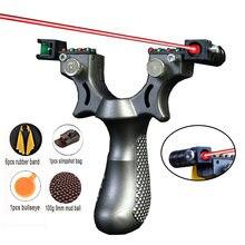 Новая смола Рогатка с резиновой лентой лазерный прицел/светильник
