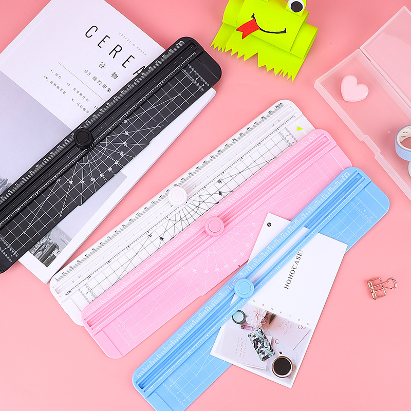 New Office Draw Ot410 Paper Cutting Artifact Photo A4 Photo Cutting Knife Manual Abs Plastic Paper Cutter Household Small