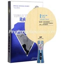Raquete de ping-pong da amizade 729, lâmina azul alc, estrutura de viscaria, arylate, tênis de mesa