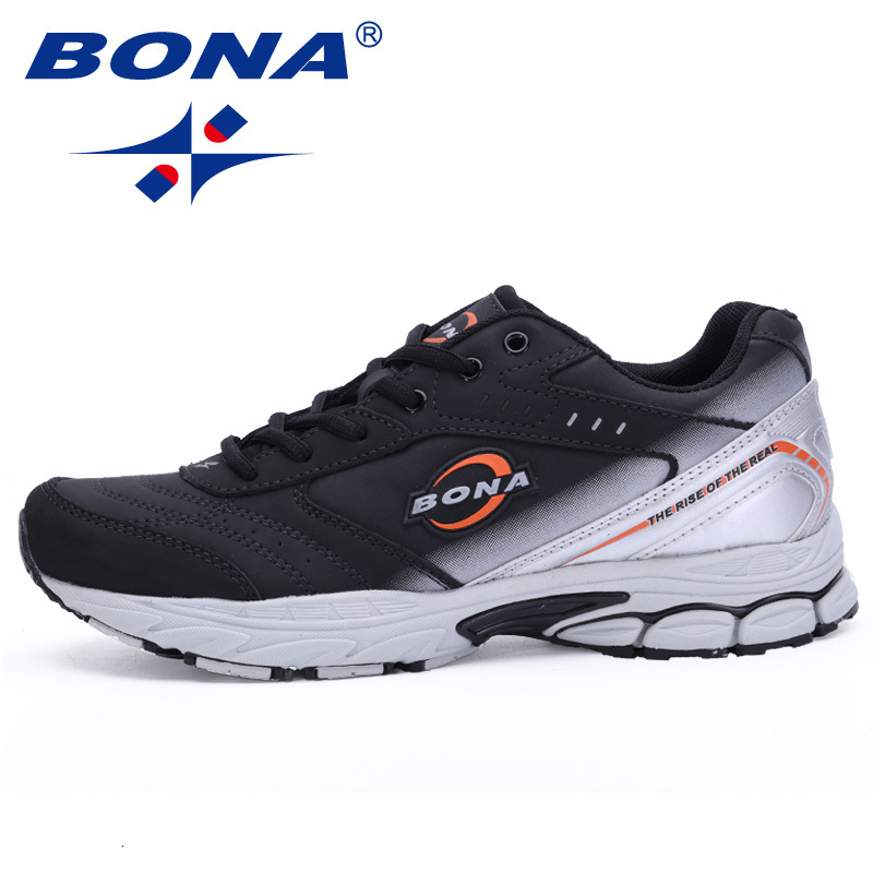 BONA New Men Running Shoes Sport Outdoor Walking Shoes Men Sneakers Comfortable Women Sport Running Shoes For Jogging Trekking