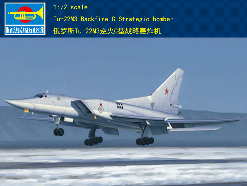 Trumpeter Model 01656 1/72 Tu-22M3 Backfire C plastic model kit image