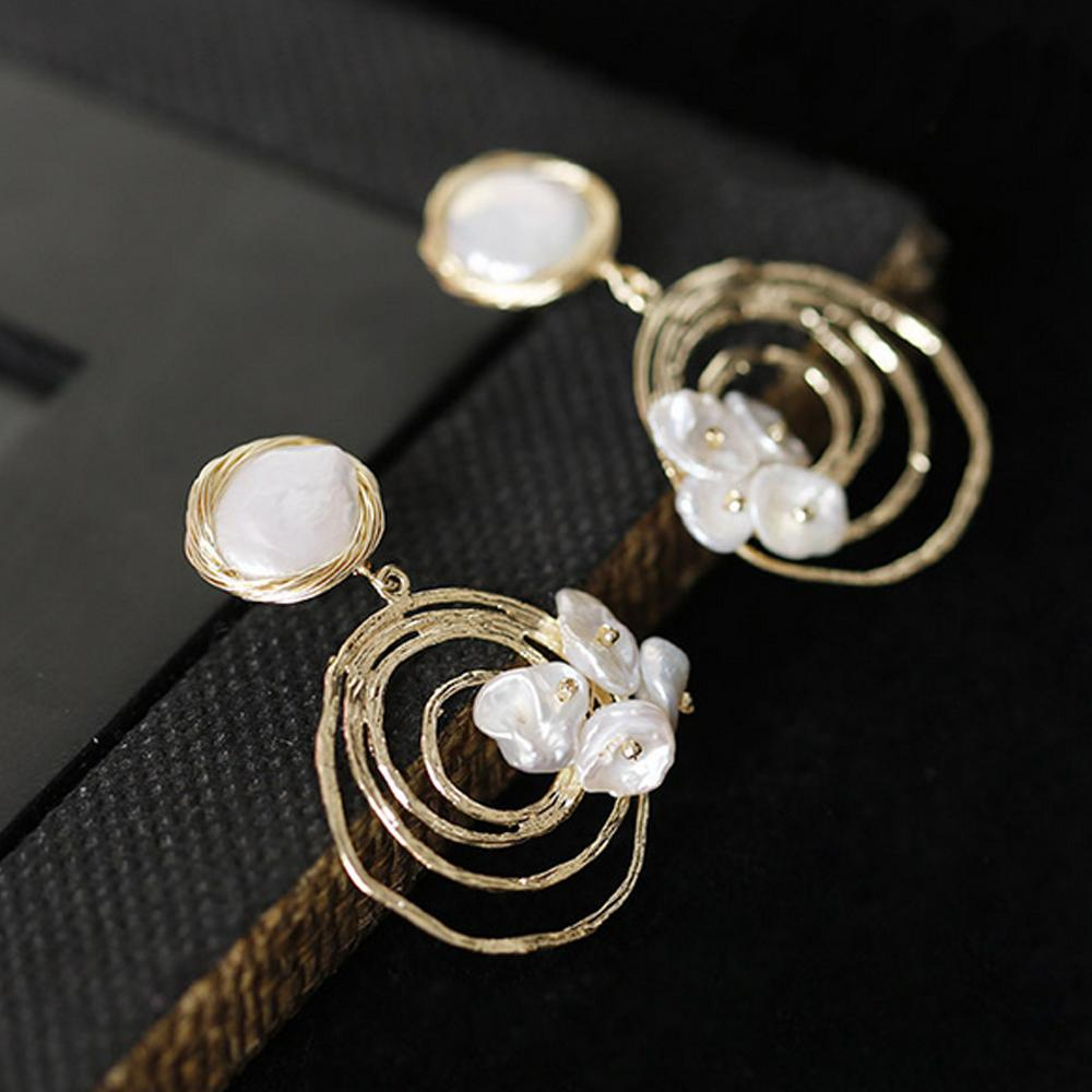 2019 Natural Fresh Water Baroque Pearl Handmade Boho Earrings For Women Party Gifts Hook Earrings Fine Jewelry Brincos Fashion