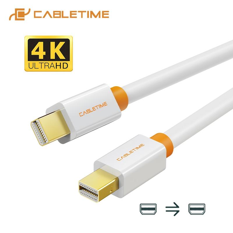 CABLETIME новый высококачественный Мини DP к Мини DP Displayport Кабель dp адаптер для Macbook/Mac Lenovo Dell 4K дисплей C051