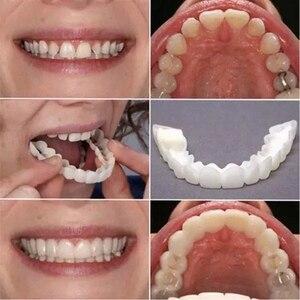 Косметическая вставная челюсть естественные накладные зубы поддельные зубы верхней стоматологической улыбки