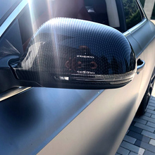 ABS karbon fiber stil add on tipi araba yan kapı aynaları kapak oto dikiz aynası kapaklar için Audi A4 A5 b8 A3 8P A6 C6 Q3