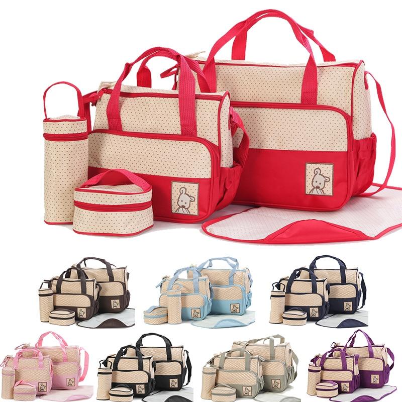 Bolsa de fraldas para maternidade, bolsa de fraldas multifuncional com suporte de grande capacidade para mães, passeios de maternidade para carrinho de bebê enfermagem