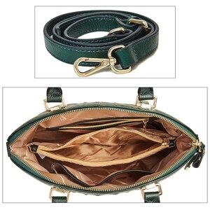 Image 5 - Qiwang 정통 여성 악어 가방 100% 정품 가죽 여성 핸드백 핫 판매 토트 여성 가방 대형 브랜드 가방 럭셔리