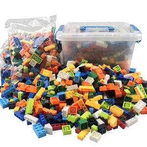 Image 1 - Blocs de construction colorés pour enfants, jouets créatifs, figurines pour enfants, filles et garçons, cadeaux de noël, 250 à 1000 pièces