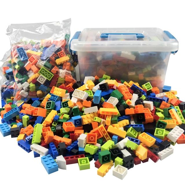 Blocs de construction colorés pour enfants, jouets créatifs, figurines pour enfants, filles et garçons, cadeaux de noël, 250 à 1000 pièces
