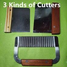 DIY свечи или мыльницы, ручной волновой нож для мыла, деревянная ручка прямой нож, скребок для теста, фри режущие инструменты