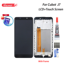 Alesser עבור Cubot J7 LCD תצוגת מסך מגע עם מסגרת עצרת חלקי תיקון + סרט + כלים + דבק עבור Cubot J7 טלפון