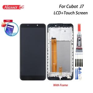 Image 1 - Alesser для Cubot J7 ЖК дисплей и сенсорный экран с рамкой в сборе, запасные части + пленка + Инструменты + клей для телефона Cubot J7