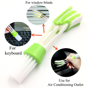 Image 2 - Auto Air Conditioning Outlet Car Cleaning Brush Dashboard Dust Brush Interior Cleaning Keyboard Blind brush Car accessories