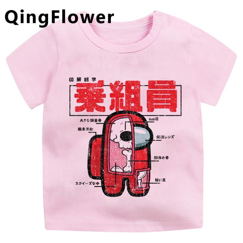 Video Game Among Us Cute Anime Summer T Shirt For Kids Funny Cartoon Boys Girls T Shirt Kawaii Casual Tshirt New Top Tees Kids T Shirts Aliexpress