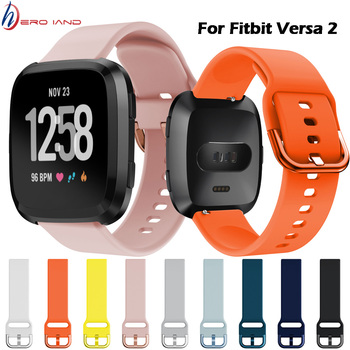 New High Quality Pure Color Bracelet for Fitbit Versa 2/Versa Lite Waterproof Replacement Soft Silicone Watch band Strap Correa