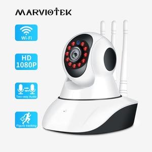Image 1 - 720P 1080P IP 카메라 와이파이 나이트 비전 비디오 감시 카메라 홈 보안 플러그 앤 플레이 PTZ 자동 추적 IP 카메라 와이파이 IR