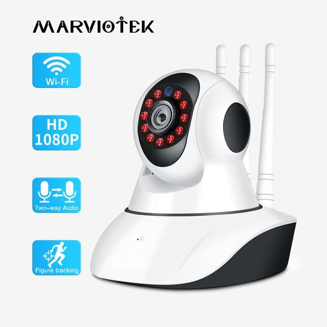720P 1080P IP 카메라 와이파이 나이트 비전 비디오 감시 카메라 홈 보안 플러그 앤 플레이 PTZ 자동 추적 IP 카메라 와이파이 IR
