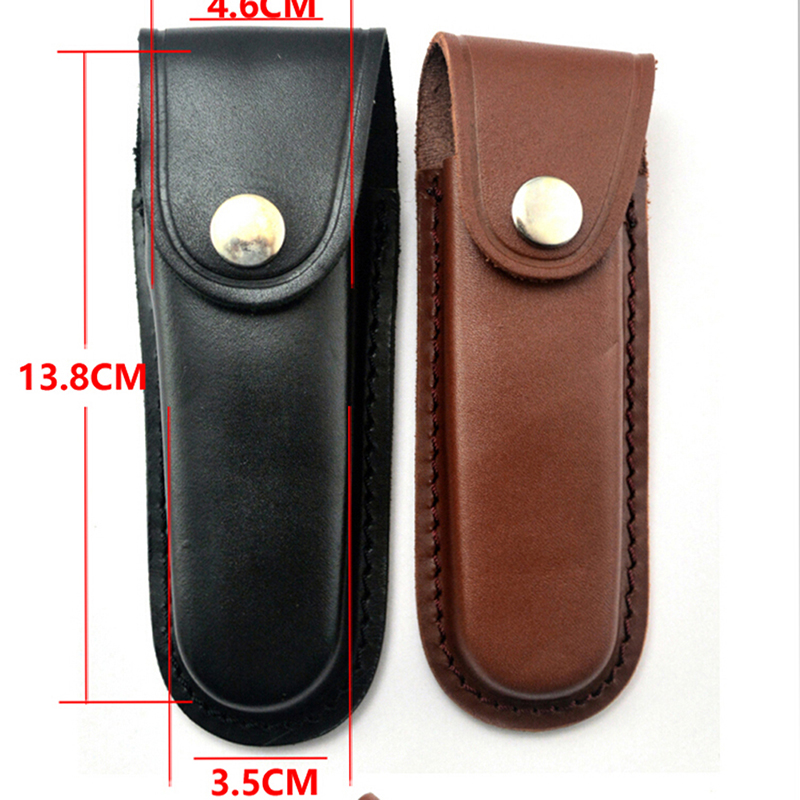 Fold Knife Tool Flashlight Belt Loop Case Holder Leather Sheath Holster Pouch Bag Pocket Hunt Camp Outdoor Carry Multi Gear
