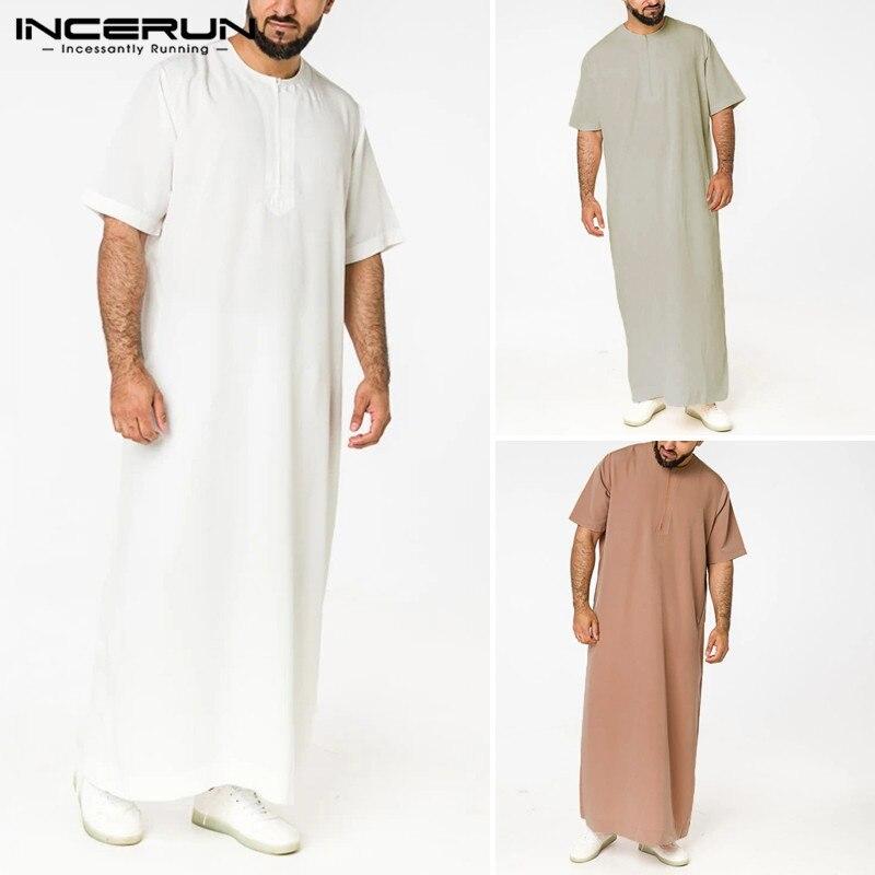 Мужская винтажная Однотонная юбка на молнии, с коротким рукавом и круглым вырезом