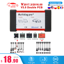 2017.3/2016.00 Multidiag pro+ Bluetooth USB OBD 2 Car Diagnostic Tool V3.0 NEC Real 9241A for Truck Scan Tools OBD2 Auto Scanner