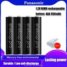 100% novo original para bateria panasonic pro aaa 950mah 1.2v ni-mh câmera lanterna brinquedo pré-carregado baterias recarregáveis