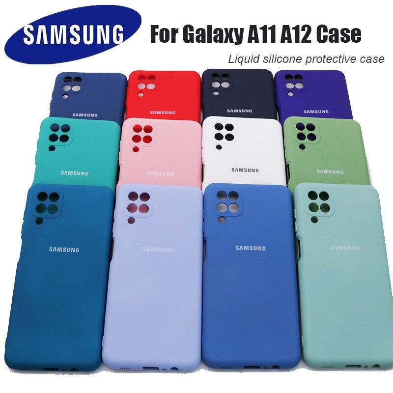 Чехол для Samsung Galaxy A11 A12, высококачественный мягкий силиконовый чехол для Samsung Galaxy a11 a12, защитный чехол с логотипом и кнопками