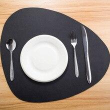 Скандинавские кожаные подстилки с изоляцией, маслостойкие западные коврики для еды, обеденная посуда, настольные коврики, подстилки, подстилки для чаши, подстаканники, кухонные аксессуары
