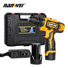 Electric Screwdriver Cordless Electric Mini Drill Lithium-Ion Battery Operated Rechargeable Power Tools 2-Speed electric drill screwdriver diold эш 0 56 2 power 560 w 2 speed reverse