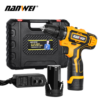цена на Electric Screwdriver Cordless Electric Mini Drill Lithium-Ion Battery Operated Rechargeable Power Tools 2-Speed