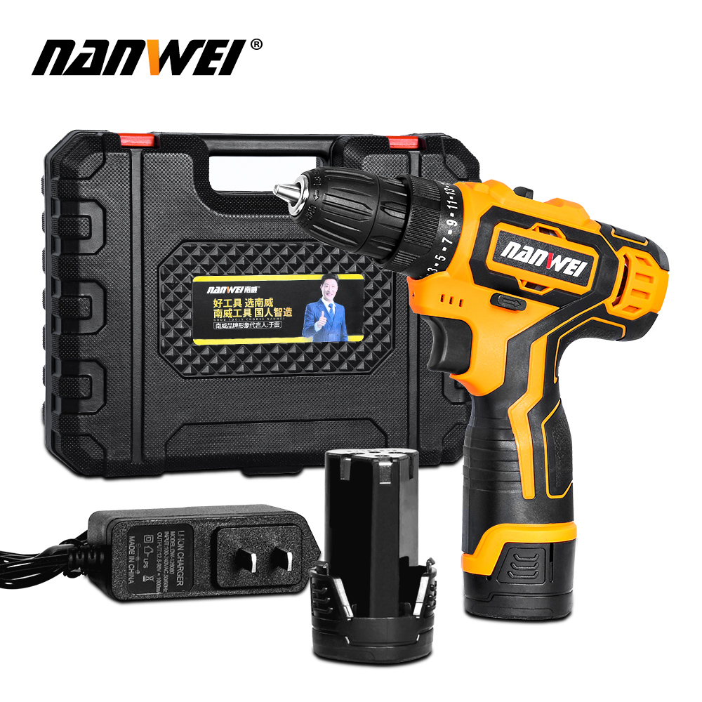 Electric Screwdriver Cordless Electric Mini Drill Lithium-Ion Battery Operated Rechargeable Power Tools 2-Speed