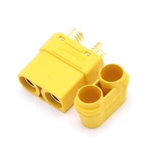 Image 4 - 100 pçs/lote amass xt90 xt90h conjunto de conector da bateria 4.5mm macho fêmea banhado a ouro banana plug (50 par)