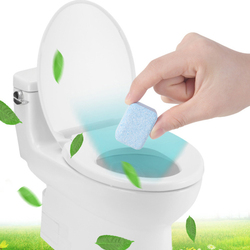Solid Toilet All Purpose Cleaner Household Cleaning Effervescent Tablets Descaling Yellow And Decontamination Toilet Household