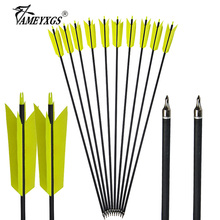 10/20pcs Archery 31.5inch Spine 400 Carbon Arrow Steel Arrowhead OD7.8mm For Compound/Recurve Bow Hunting Shooting Accessories цены