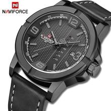 NAVIFORCE Watches for Men Top Luxury Brand Casual Quartz Watch Mens Leather Waterproof Wristwatch Male Clock Relogio Masculino