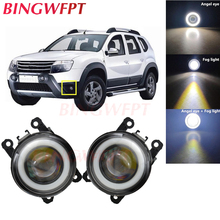 2x Car Accessories LED Fog Light Angel Eye with Glass len for FOCUS 2 3 for Renault DUSTER For Suzuki GRAND VITARA 2 2005-2015