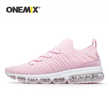 ONEMIX Sneakers Women Tennis Shoes 2019 Summer Comfortable Knitted Vamp Air Trainer Fashion Ladies Sport Fitness Shoe Big Size43
