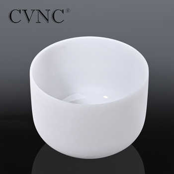 "CVNC 10"" Note F Heart Chakra Tuned Frosted Quartz Crystal Singing Bowl"