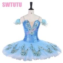 New arrival 2017 princess florina ballerina ballet pancake tutu blue bird professional classical stage costumesBT9142