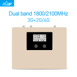 Image 4 - 特別提供! スマートデュアルバンド 2G3G4G 1800/2100 携帯信号ブースター携帯携帯電話の中継器アンプ唯一のデバイス + アダプタ