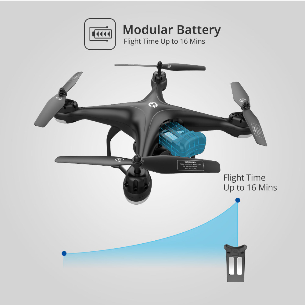 Holy Stone HS120D Drone Lipo Battery 7.4V 1200mAh Lipo Battery Charger Modular Rechargable Lithium Battery For HS120D RC Drone