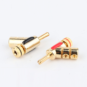 Image 2 - 4pcs BA1441 Nakamichi GOLD PLATED LOCK SPEAKER CABLE PLUG BANANA CONNECTOR