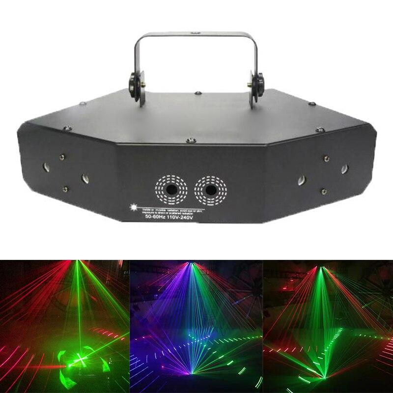 Hot 6 Lens Scan Lasers Light Line Beam Scans Music Show DMX DJ Dance Combinations Gobos Projector Indoor Bar Coffee Xmas XJS789