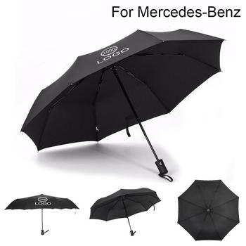 Dla Mercedes Benz Logo wiatroszczelny w pełni automatyczny parasol biznesowy wiatroodporny składany parasol podróżny Paraguas nowy tanie i dobre opinie JYMYQP CN (pochodzenie) Metal