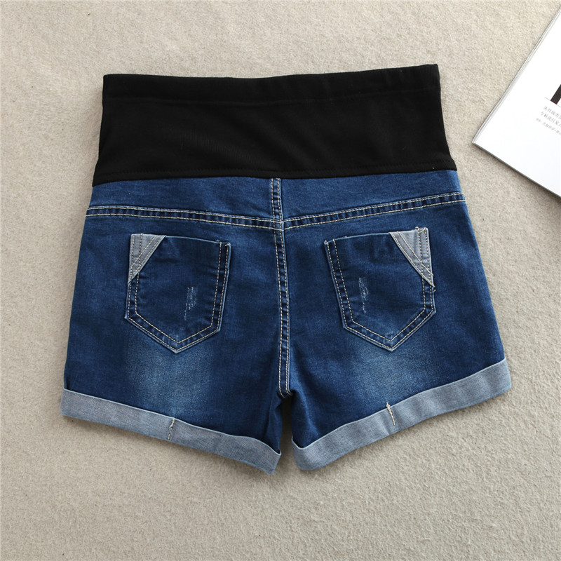 Hot Summer Thin Stretch Denim Maternity Shorts Belly Rolled Up Shorts Clothes for Pregnant Women Casual Pregnancy Short Jeans 1